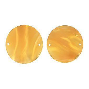 Zola Elements Acetate Connector Link, Mynt 19,5mm, 2 stycken, Honeycomb