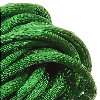 Final Sale - Rayon Satin Rattail 2mm Cord - Knot & Braid - Kelly Green (6 Yards)