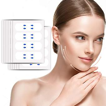 40 Pcs/Set Invisible Thin Face Facial Stickers Facial Line Wrinkle Sagging Skin V-Shape Face Lift Tape Scotch For Face
