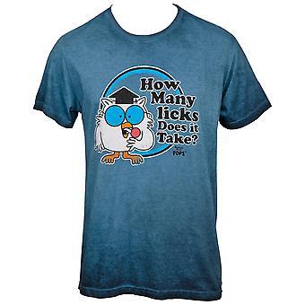 Tootsie Roll Mr. Owl How Many Licks Grey T-Shirt