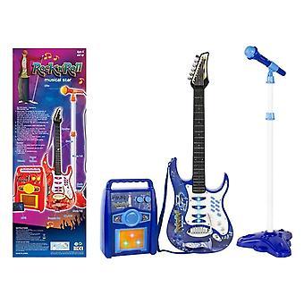 Kinderspeelgoed gitaar set met speaker en microfoon