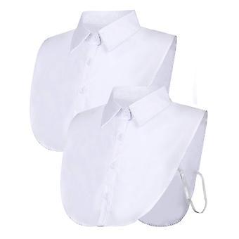 2 Pieces fake collar detachable blouse dickey collar half shirts false collar for women favors pl-479