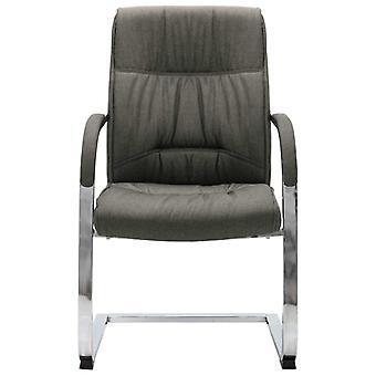 vidaXL cantilever stoel bureaustoel grijze stof