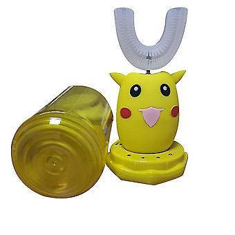 الأصفر التلقائي فرشاة الأسنان الكهربائية الاطفال ش على شكل صوت ذكي x7800