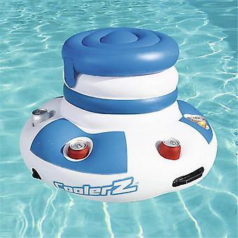 Summer Water Sports Inflatable Fun Air Mattress Ice Bucket Cooler 6 Cup Holder