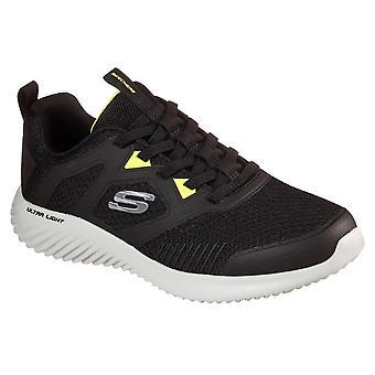 Skechers men's bounder high degree trainer black 33059