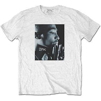 Tupac - Changes Side Photo Men's Large T-Shirt - White
