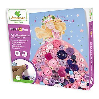 Sycomore Stick & Fun Children's Button Boards Princess