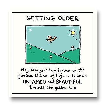 Pigment Edward Monkton - Getting Older Everyday Blank Birthday Card Sf810a