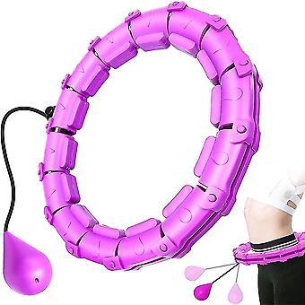 Sport Hoops 24 Secțiuni Ajustați Fitness Hoop Femei detașabile Pierdere în Greutate Hoola Cerc Masaj Cercuri