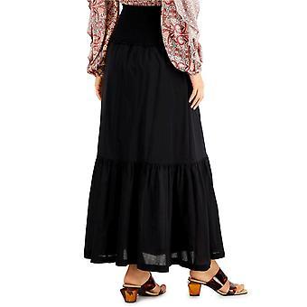 INC International Concepts Womens INC Smocked Porrastettu Maxi Hame