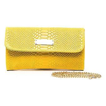 Women's kézitáska Trussardi bőr sárga