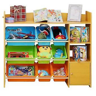 الأطفال مجلس الوزراء أثاث البلاستيك رف الكتب الخشبية الطفل Bookcase
