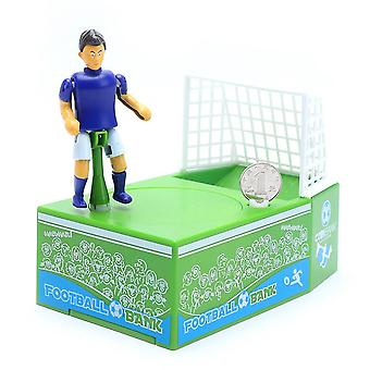 Playing Football Piggy Bank Coin Money Box World Cup Depository Machine