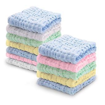 Waschlappen Baby Musselin Baby Tuch 12 Stücke für empfindliche Haut, Baumwolle Badetuch, Weiche