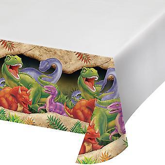Dinosaurie tema plast bordsskiva - Barn fest leveranser