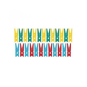 24 mini 3cm Diverse Träkläder pinnar | Trä former för hantverk