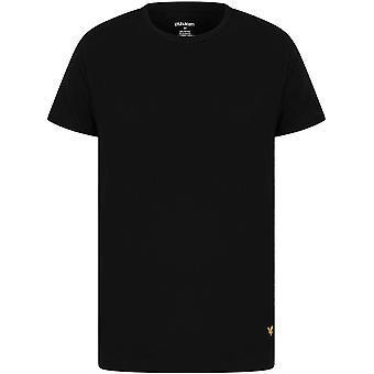 Lyle and Scott Maxwell 3 Pack Lounge T-Shirts - Black/Light Grey Marl/Angel Falls Blue