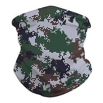 (Army Camo Print) Multi use Balaclava Face Mask Cycling Neck Tube Scarf Snood Warmer Headband
