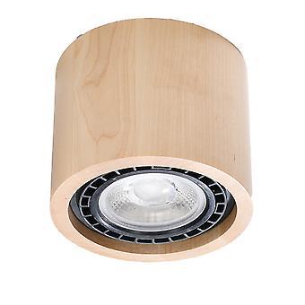 Sollux BASIC SL.0913 Superfície Montada Luzes Redondas Flush Luz Natural Madeira GU10