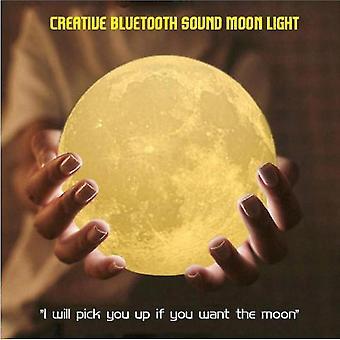 3d-tulostus Moonlight Bluetooth Speaker Photo Night Light Pojalle ja tytölle Ystävät Syntymäpäivä (S2)