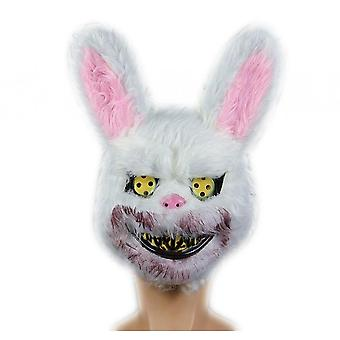 Halloween Scary Mask, Bloody Plush Head Mask, Cosplay Costume Props