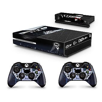 GNG Dark Joker Console Skin Decal-klistremerke + 2 kontrollerskall som er kompatible med Xbox One og Kinect