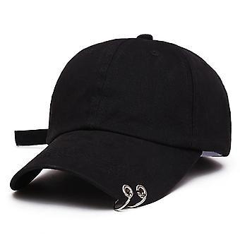 جديد الرجال النساء الأسود اللون قابل للتعديل قبعة البيسبول عارضة