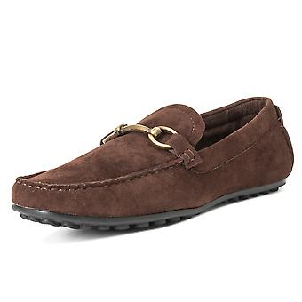 Mens Queensberry Chester Comfort Leather Smart Office Penny Moccasins UK 6-14