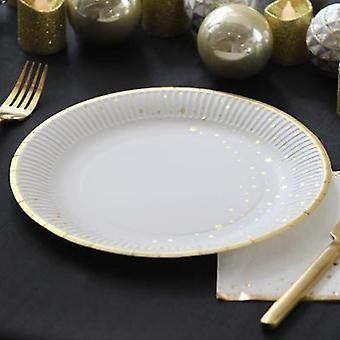 Christmas Star Round Paper Party Plates x 12