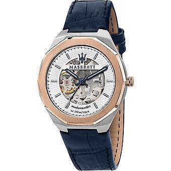 Maserati R8821142001 Men's Stile Limited Edition Leather Strap Wristwatch
