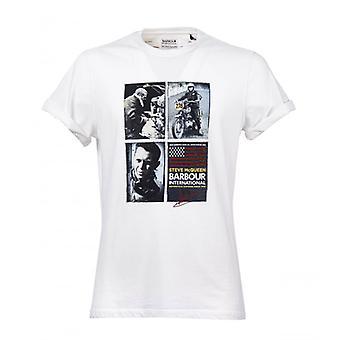 Barbour Multi Steve Hvit T-skjorte