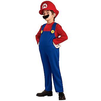 Super Mario Deluxe Bros Video spil blikkenslager 1980s tegneserie drenge kostume