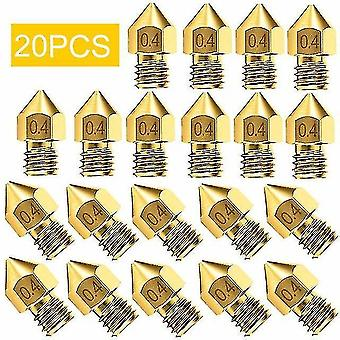 3D printer accessories 10/20pcs 3d printer accessories nozzle accessory mk8 0.4Mm for cr-10 for ender 3 for anet a8