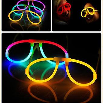 10pcs lysende glød pinner belysning briller for festkonserter dekorer favoriserer