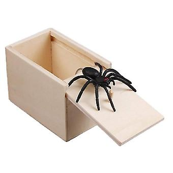 Scare Box Wooden Prank Spider Bug April Fool's Day Gift Surprise Box Halloween Toys
