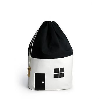 Silktaa בית קטן צעצוע אחסון שקית ילדים קישוט חדר שקית אחסון