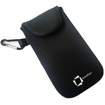 InventCase Neoprene Protector Pouch Case para HTC One M7 - Negro