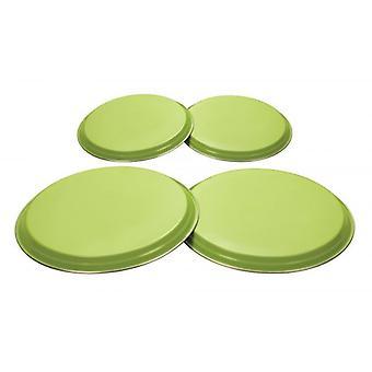 KLEUREN 4stk elektrische Gas fornuis kookplaat Cover Set roestvrij staal - Lime groen