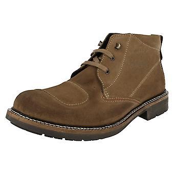 Mens baseren Londen Casual Ankle Boots van de Moto lijn