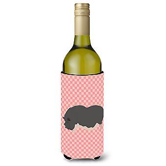 Porco vietnamita barrigudo cheque rosa garrafa de vinho Beverge isolador Hugger