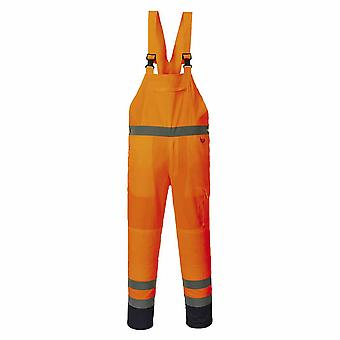Portwest - Hi-Vis Hardwearing Cotton Rich Contrast Bib & Brace - Unlined