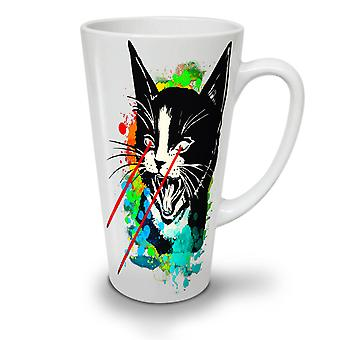 Laser Angry Colourful NEW White Tea Coffee Ceramic Latte Mug 12 oz | Wellcoda