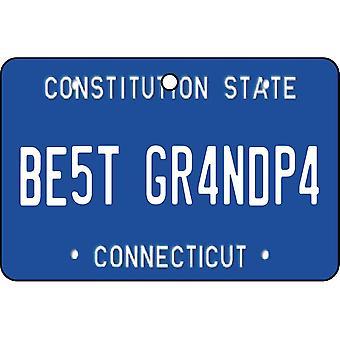 Connecticut - bedste bedstefar licens plade bil luftfriskere
