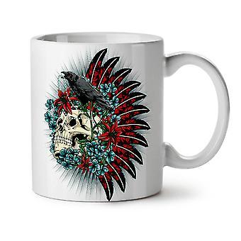 Skull Raven Death Fantasy NEW White Tea Coffee Ceramic Mug 11 oz | Wellcoda
