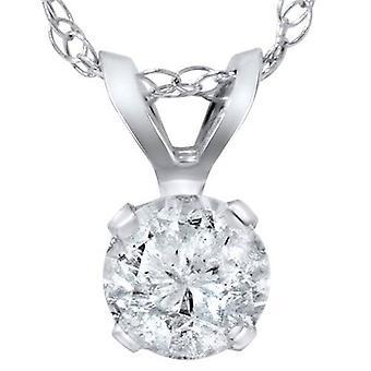 2 ct ソリティア ダイヤモンド ペンダント 14 K ホワイトゴールド