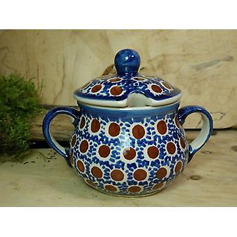 Zuckerdose, Höhe 10 cm, Ø 12 cm, Tradition 51- polish pottery - BSN 22014