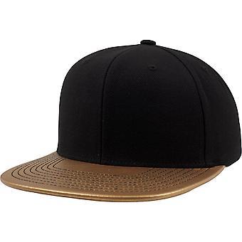Flexfit by Yupoong Mens Premium Wool Metallic Visor Snapback Cap