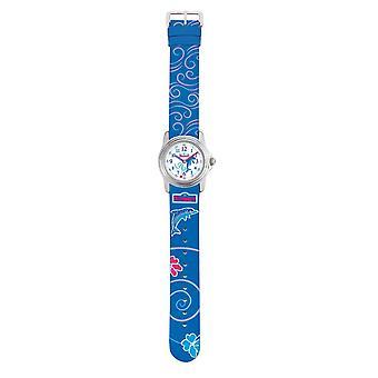Reloj de niño Scout chica de dulces delfines 280301013 azul reloj de aprendizaje