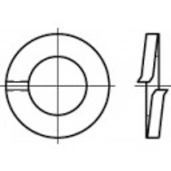 TOOLCRAFT 105594 Anelli di blocco diviso Al diametro interno: 4,1 mm DIN 127 Acciaio a molla 100 pc(i)